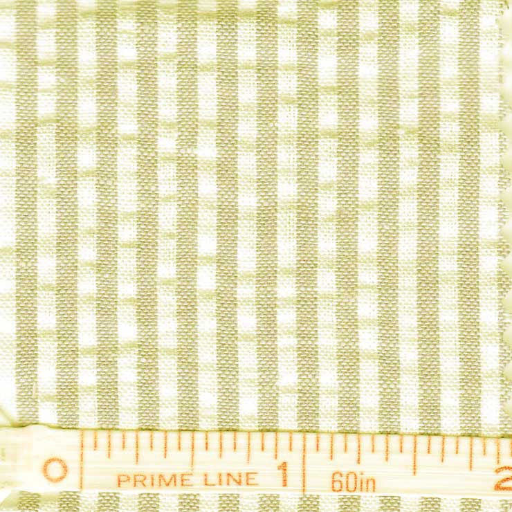 Cotton Blend Seersucker - 30 Yard Bolt 20 Narrow Khaki - NY Fashion Center Fabrics