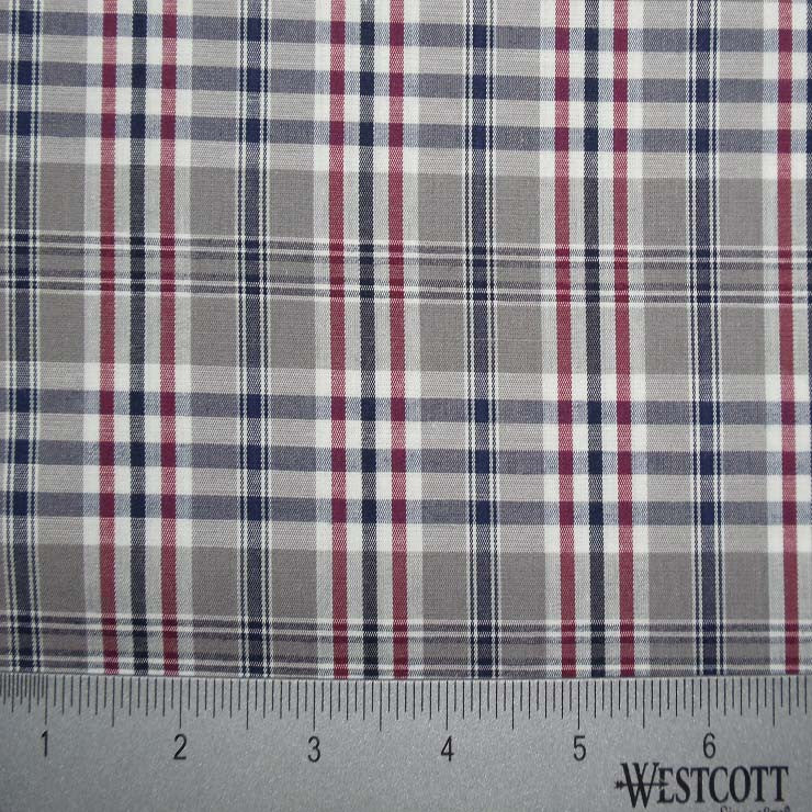 100% Cotton Fabric Checks Collection #4 20 Y D9802TNR - NY Fashion Center Fabrics