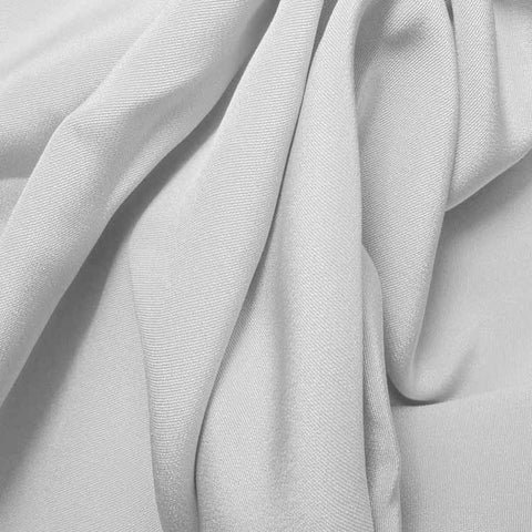 Silk 4 Ply Woven Crepe White