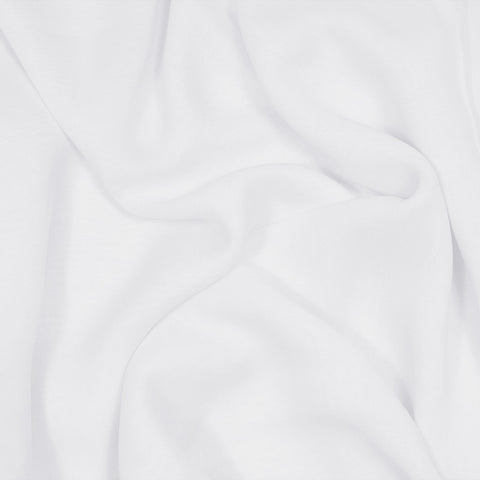 Silk Stretch Chiffon White
