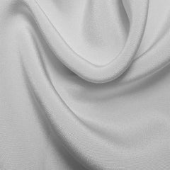 Silk 6 Ply Woven Crepe White