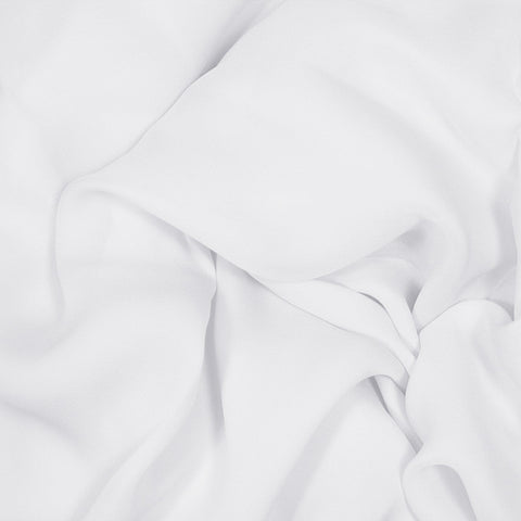 Silk Stretch Georgette White