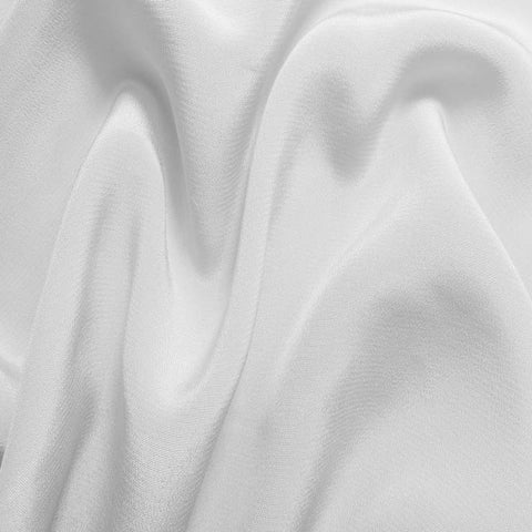 Silk Crepe de Chine White