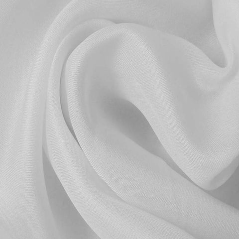 Silk Satin Face Organza White