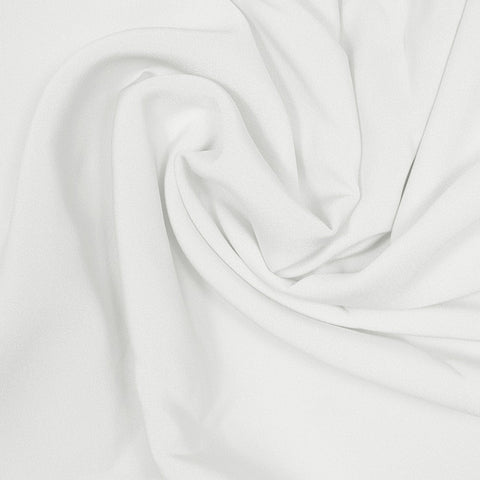 Silk Stretch 4 Ply Crepe Off White