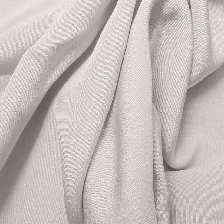 Silk 4 Ply Woven Crepe Off White