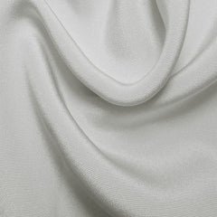 Silk 6 Ply Woven Crepe Off White