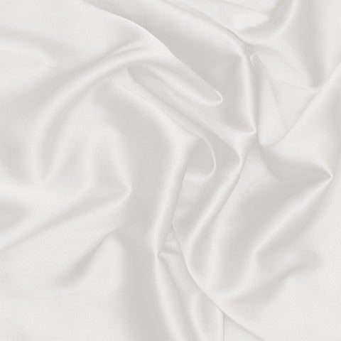 Silk Stretch Charmeuse Off White