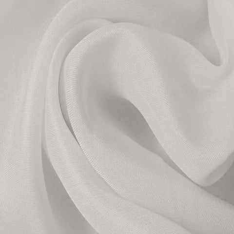 Silk Satin Face Organza Off White