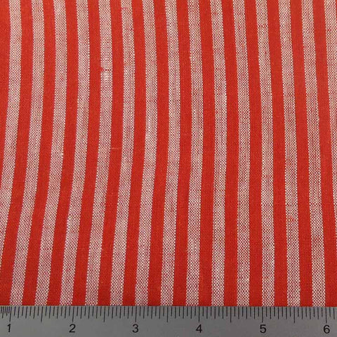 Even Stripes Linen 2010 YD 101 Red - NY Fashion Center Fabrics