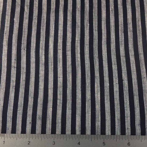 Even Stripes Linen 2010 YD 104 Navy - NY Fashion Center Fabrics