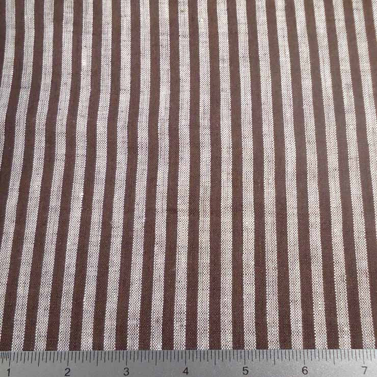 Even Stripes Linen 2010 YD 105 Brown - NY Fashion Center Fabrics
