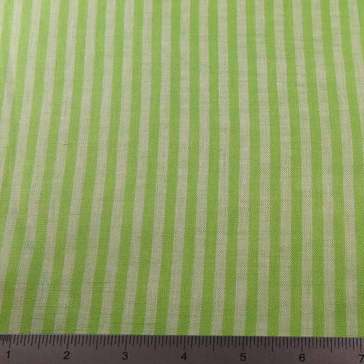 Even Stripes Linen 2010 YD 106 Lime - NY Fashion Center Fabrics