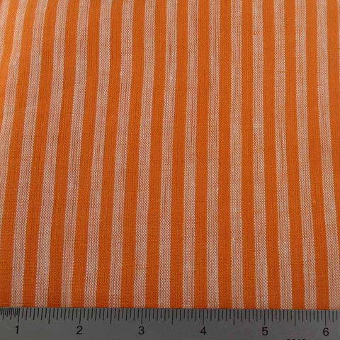 Even Stripes Linen 2012 YD 110 Orange - NY Fashion Center Fabrics