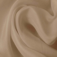 Silk Satin Face Organza Beige