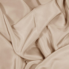 Silk Stretch Crepe De Chine Beige