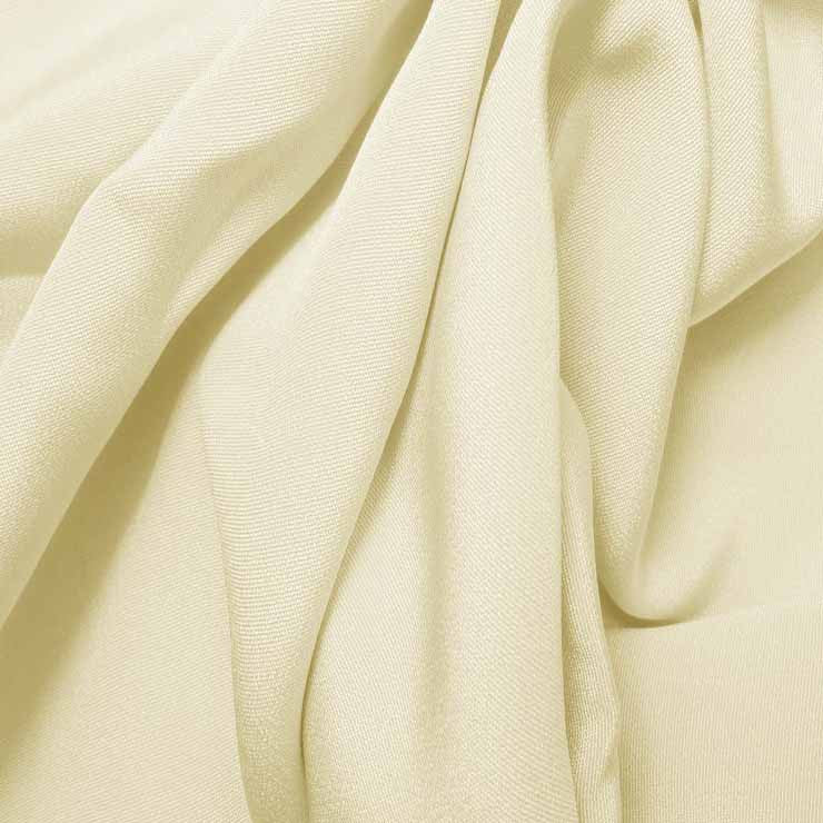 Silk 4 Ply Woven Crepe Pale Yellow
