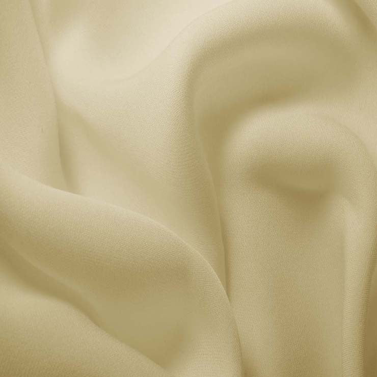 Silk Double Georgette Pale Yellow