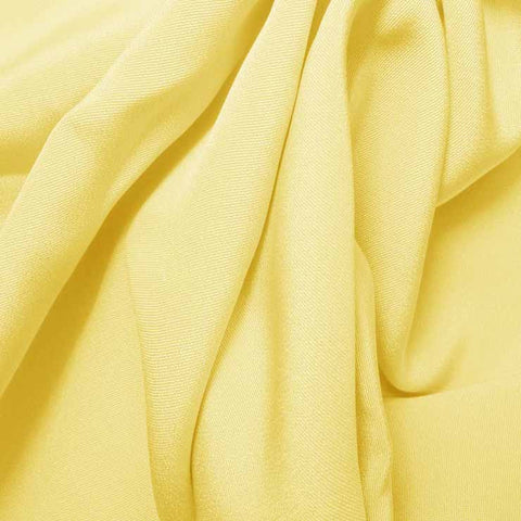 Silk 4 Ply Woven Crepe Light Yellow