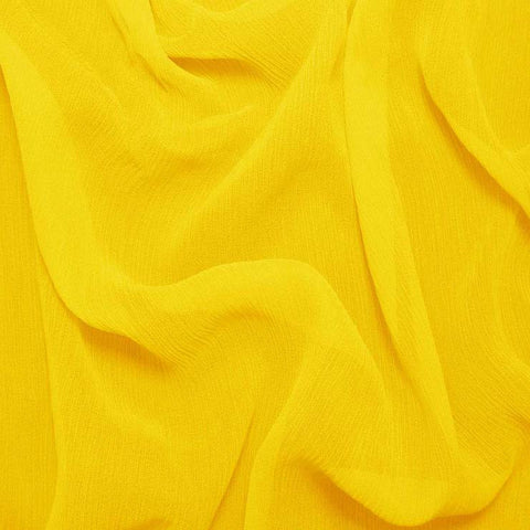 Silk Crinkle Chiffon Lemon Yellow