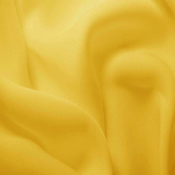 Silk Double Georgette Lemon Yellow