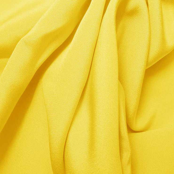 Silk 4 Ply Woven Crepe Lemon Yellow
