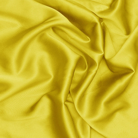 Silk Charmeuse Lemon Yellow