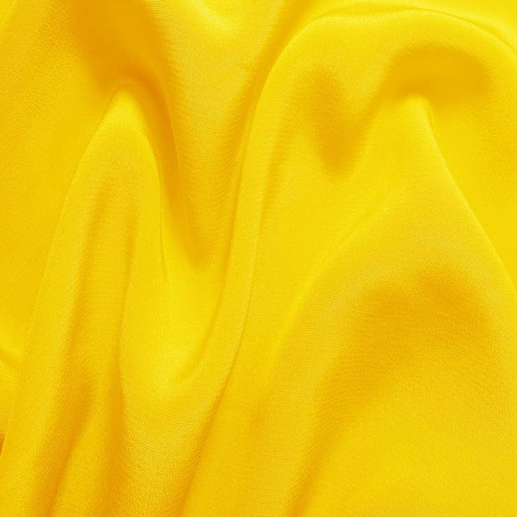 Silk Crepe de Chine Lemon Yellow
