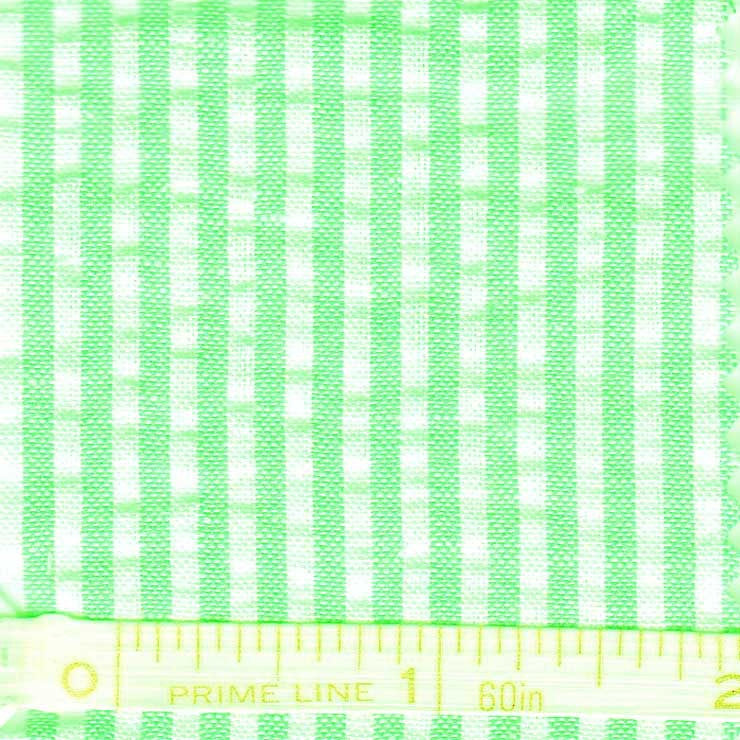Cotton Blend Seersucker - 30 Yard Bolt 21 Narrow Lime - NY Fashion Center Fabrics