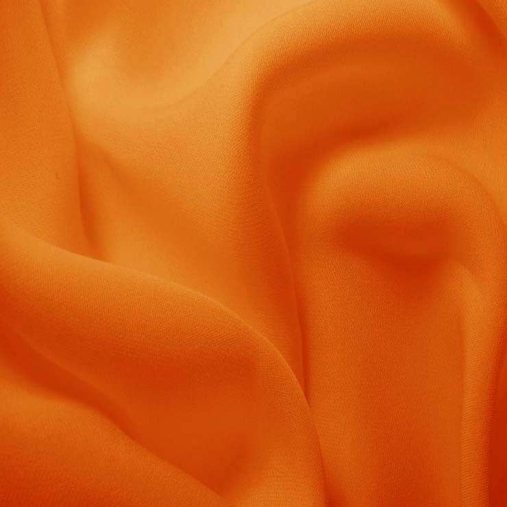Silk Double Georgette Medium Orange