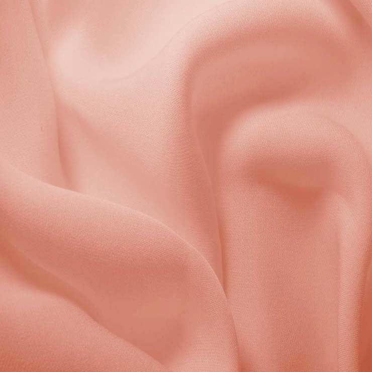 Silk Double Georgette Peach