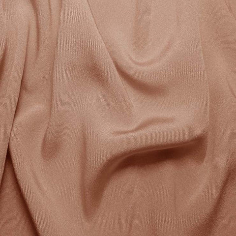 Silk Crepe Back Satin Dusty Peach