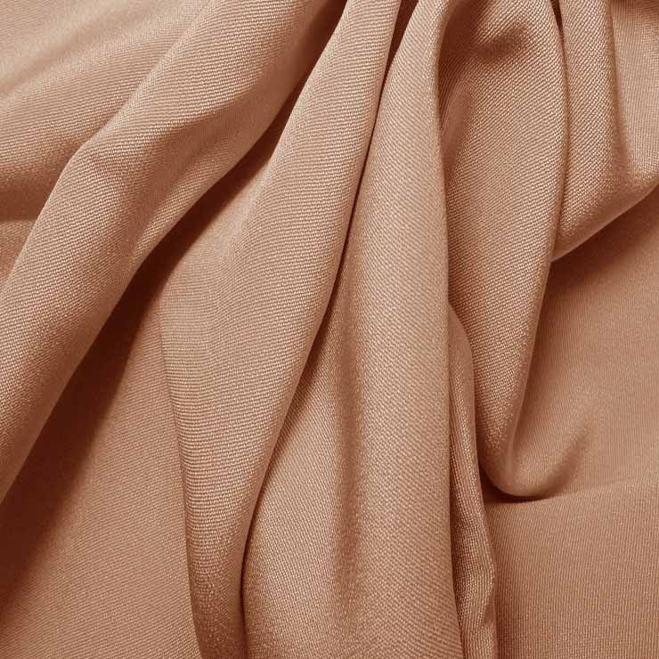 Silk 4 Ply Woven Crepe Dusty Peach