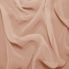 Silk Crinkle Chiffon Dusty Peach