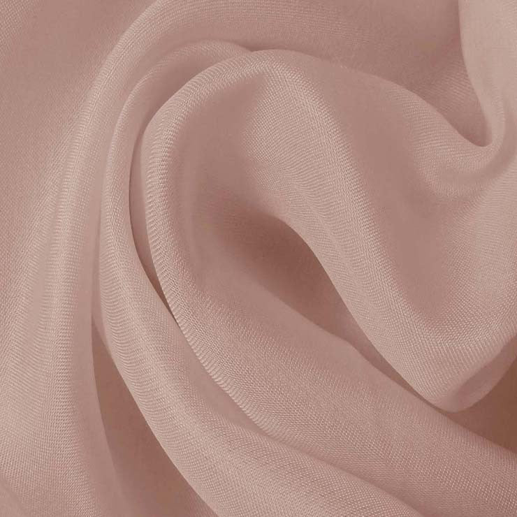 Silk Satin Face Organza Dusty Peach