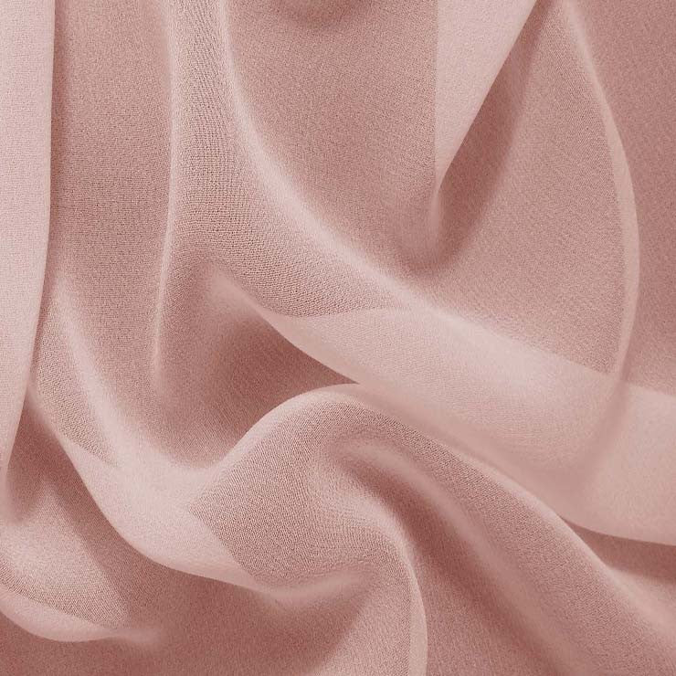 Silk Chiffon Dusty Peach