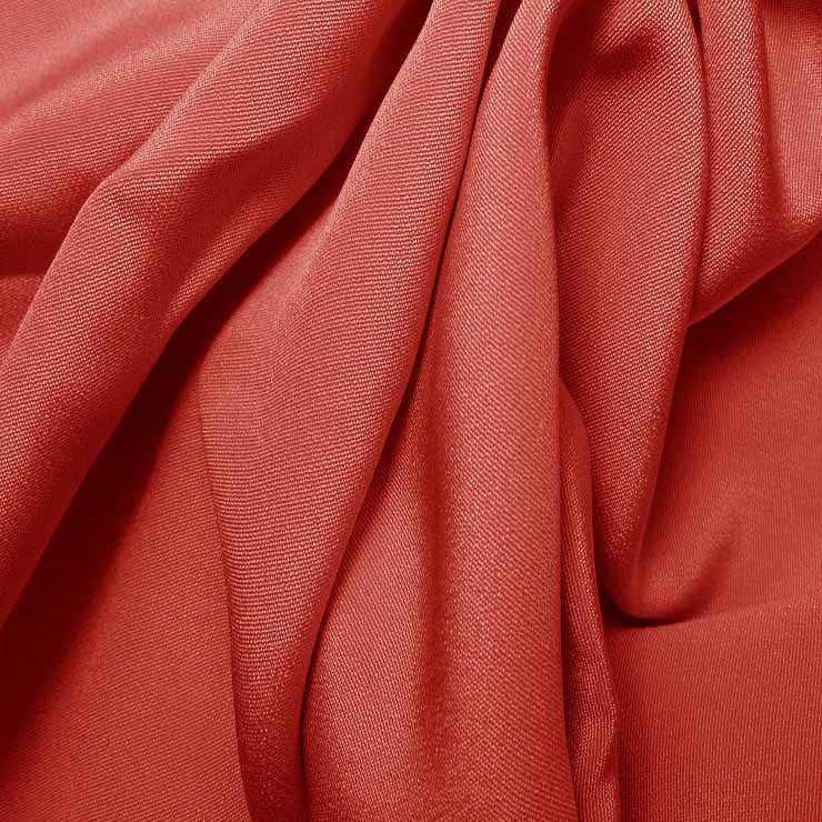 Silk 4 Ply Woven Crepe Pink Coral