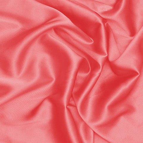 Silk Stretch Charmeuse Pink Coral