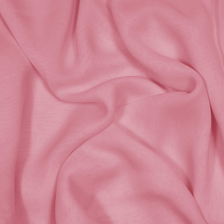 Silk Stretch Chiffon Pink Coral