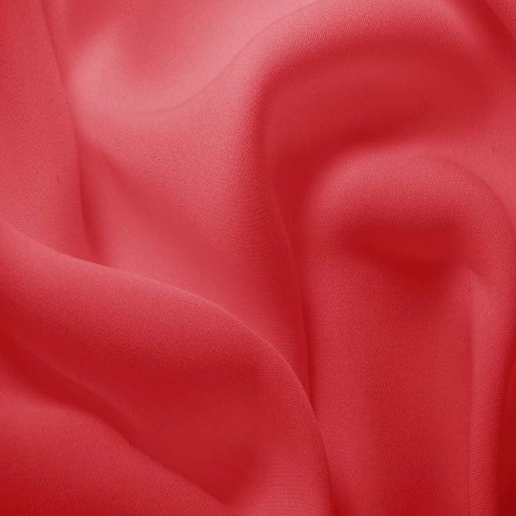 Silk Double Georgette Pink Coral