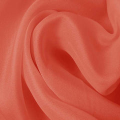 Silk Satin Face Organza Coral