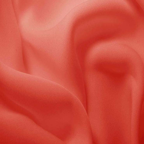 Silk Double Georgette Coral