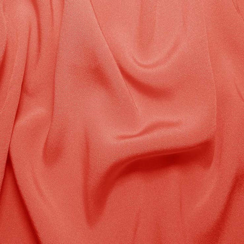 Silk Crepe Back Satin Coral