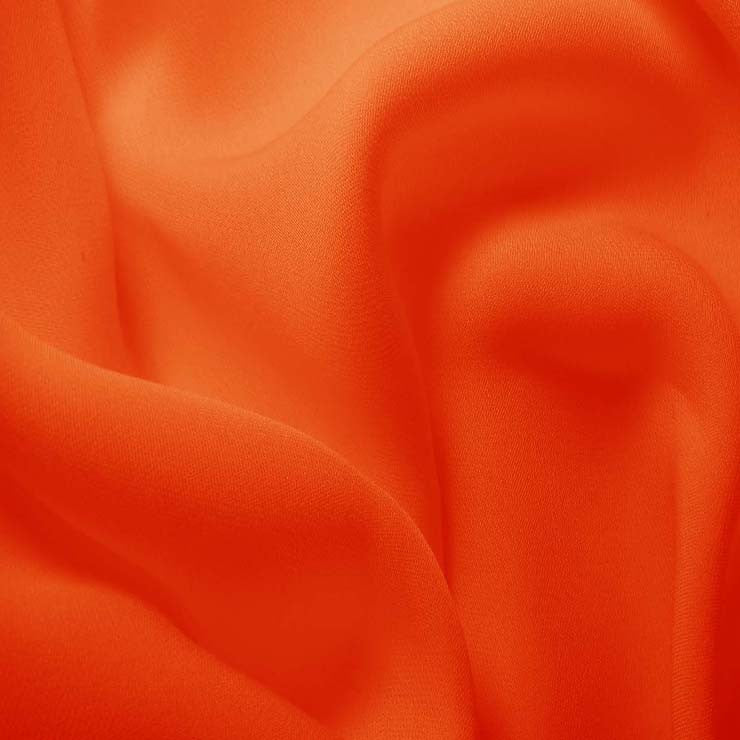 Silk Double Georgette Orange
