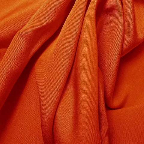 Silk 4 Ply Woven Crepe Orange