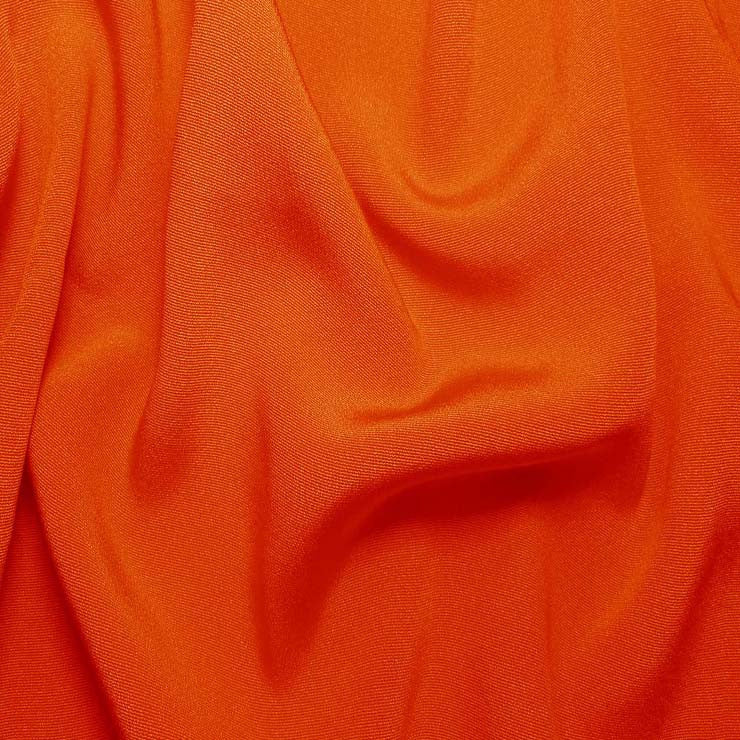 Silk Crepe Back Satin Orange