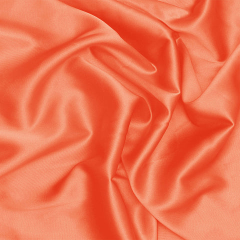 Silk Stretch Charmeuse Orange
