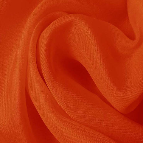 Silk Satin Face Organza Orange