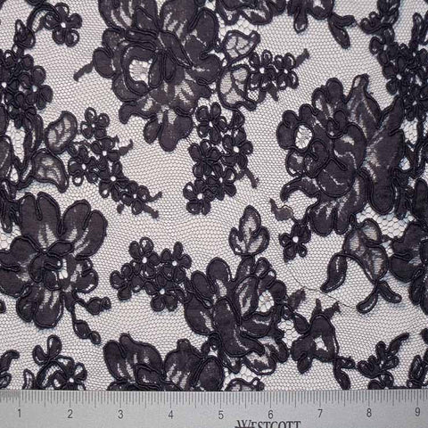 Alencon Lace #10 22 12060R 36 DKNavy - NY Fashion Center Fabrics