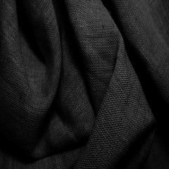 Medium Weight Linen - 6.5-oz 22 Black - NY Fashion Center Fabrics